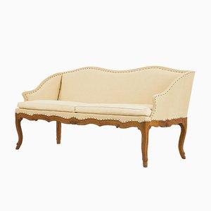 Vintage French Carved Oak Sofa