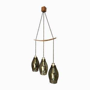 Rauchglas Deckenlampe von Osvaldo Borsani, 1960er