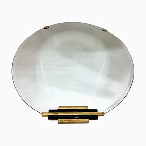 Art Deco French Round Mirror, 1930s