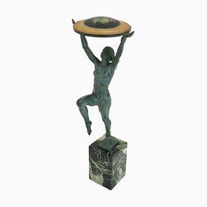 Escultura francesa Art Déco de Max Le Verrier para Le Verrier Paris, años 30