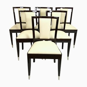 Art Deco Belgian Dining Chairs from De Coene Frères, 1930s, Set of 6