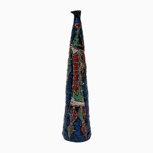 Mid-Century Italian Ceramic Vase from Marcello Fantoni, 1950s