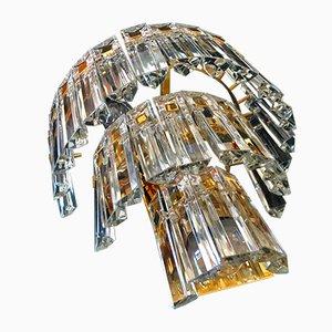 Apliques de cristal de Murano de Venini, años 70. Juego de 2