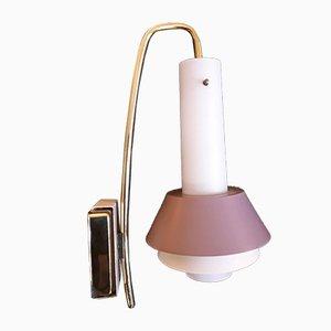 Deutsche Messing Wandlampe, 1970er