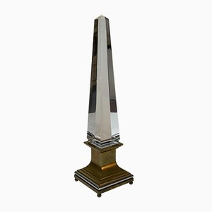 Lucite Obelisk Table Lamp by Sandro Petti for Maison Jansen, 1970s