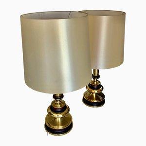 Lámparas de mesa vintage de latón. Juego de 2