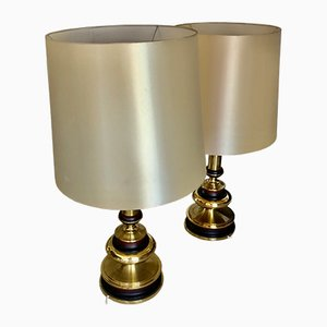 Vintage Brass Table Lamps, Set of 2