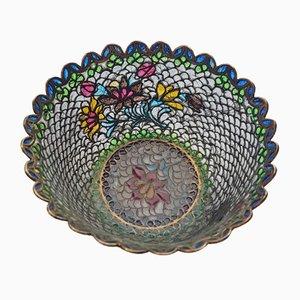 Vintage Chinese Plique-a-Jour Bowl