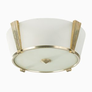 Art Deco Style French Ceiling Lamp, 1980s