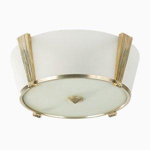 Französische Deckenlampe im Art Deco Stil, 1980er