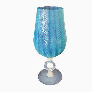 Italian Opalescent Glass Art Vase, 1950s