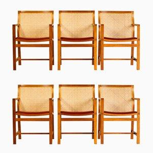 Mahagoni & Leder 7512 Esszimmerstühle von Thygesen & Sørensen für Botium, 1960er, 6er Set