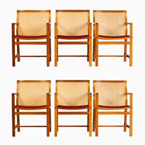 Mahogany & Leather 7512 Dining Chairs by Thygesen & Sørensen for Botium, 1960s, Set of 6