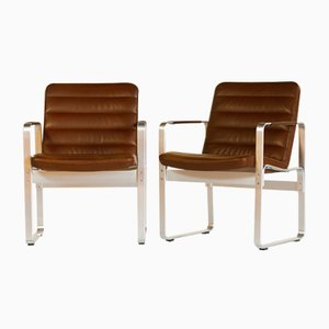 Leather Mondo Armchairs by Karl-Erik Ekselius for JOC Vetlanda, 1980s, Set of 6
