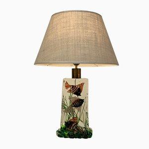 Lámpara de mesa italiana Mid-Century de cristal de Murano de Cenedese para Cenedese, años 50