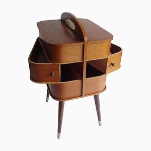 Vintage Danish Modern Teak Schichtholz Aufbewahrungsbox, 1960er
