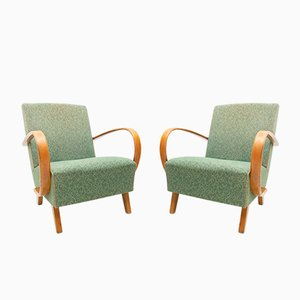 Model C Armchairs by Jindřich Halabala for UP Závody, 1950s, Set of 2