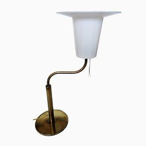 Lampada da tavolo grande vintage in ottone di Uno & Östen Kristiansson per Luxus