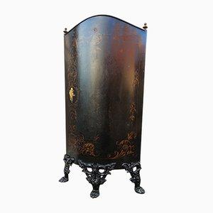 Pantalla de chimenea Napoleon III francesa antigua de metal