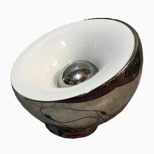 Lámpara de mesa de metal cromado, años 70