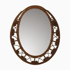 Specchio in vimini, anni '50