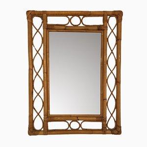 Wicker Mirror, 1950s