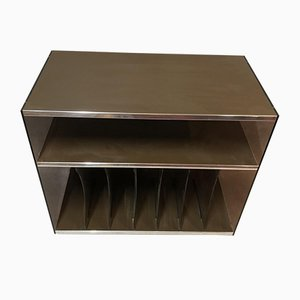 Smoked Plexiglass Vinyl Cabinet, 1970s