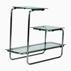 Bauhaus Chrome Plated Tubular Shelf, 1930s
