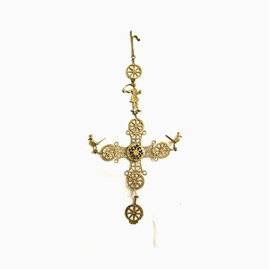 Antique Golden Metal Crucifix