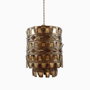 Mid-Century Brutalist Metal Pendant Lamp