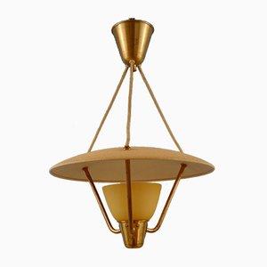 Lámpara colgante Grace sueca de vidrio escarchado y metal, años 30
