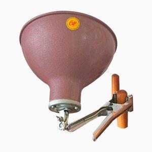 Lámpara industrial de pinza, años 50