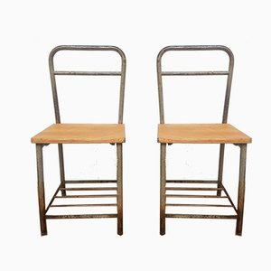 Large Mid-Century Side Chairs, Set of 2