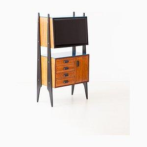 Mid-Century Italian Blonde Rosewood Cabinet, 1950s