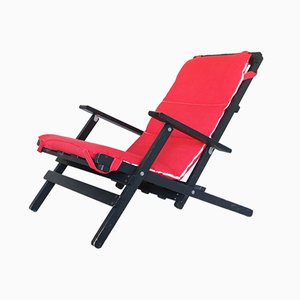 Mid-Century Lacquered Wooden Folding Chair from Gavina