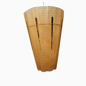 Lámpara de araña con linternas de cristal de Murano dorado, años 90