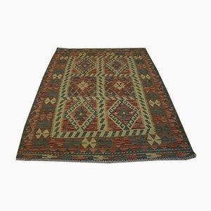 Vintage Handwoven Afghan Kilim Carpet