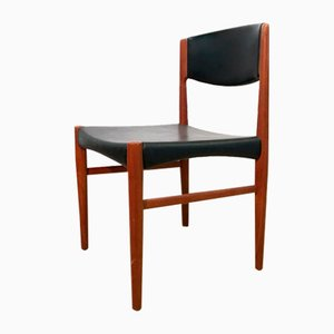 Danish Teak Dining Chairs, 1960s, Set of 3