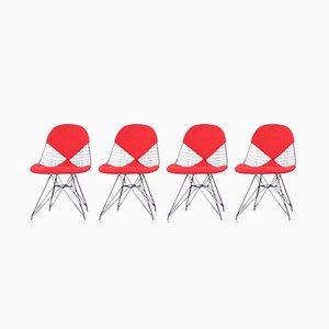 Mid-Century Modell DKR Esszimmerstühle aus bemaltem Stahl von Charles & Ray Eames für Herman Miller, 4er Set