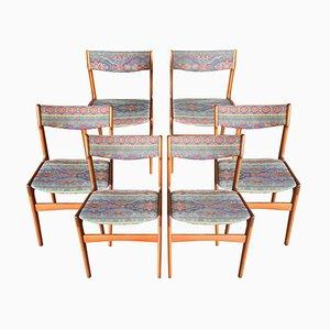 Schwedische Teak Esszimmerstühle, 1960er, 6er Set