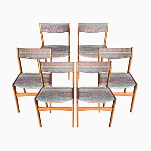 Swedish Teak Dining Chairs, 1960s, Set of 6