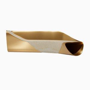 Banc en Bronze Coulé Doré par Sors