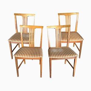 Schwedische Teak Esszimmerstühle, 1960er, 4er Set