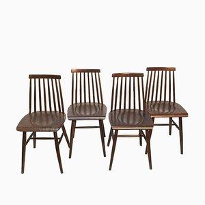 Schwedische Birkenholz Esszimmerstühle, 1970er, 4er Set