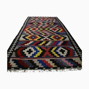 Hand-Woven Nomad Kilim Carpet, 1950s