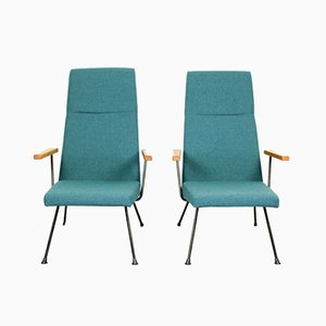 Mid-Century Model 1410 Lounge Chairs by Dick Cordemeijer for Gispen, Set of 2