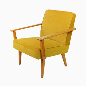 Yellow Armchairs, 1960s, Set of 2