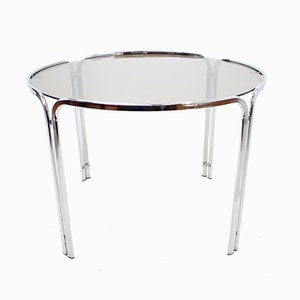 Mid-Century Italian Chrome Dining Table, 1960s