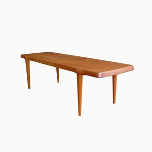 Danish Solid Teak Coffee Table by John Boné for A/S Mikael Laursen, 1960s