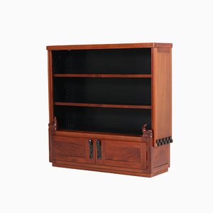 Dutch Art Deco Mahogany Amsterdam School Bookcase by Willem Raedecker, 1920s